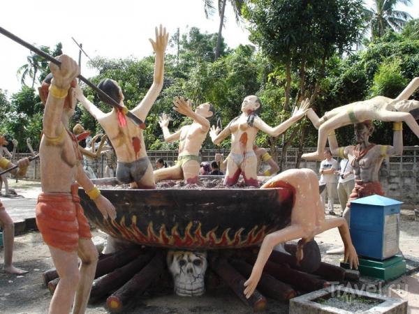 Храм Рая и Ада: назидание грешникам в Таиланде